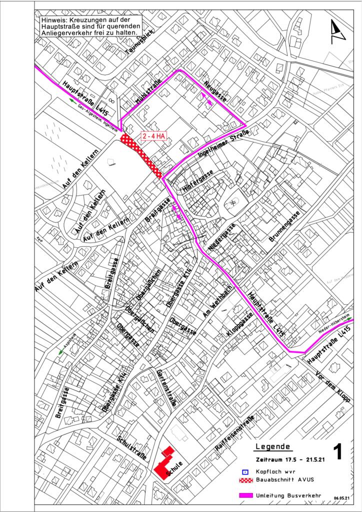 Sanierung Hauptstrasse Bauabschnitt 1