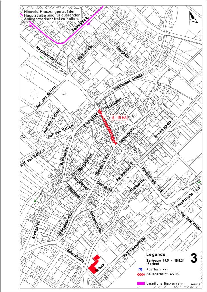 Sanierung Hauptstrasse Bauabschnitt 3